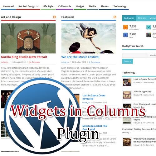 widgets in columns